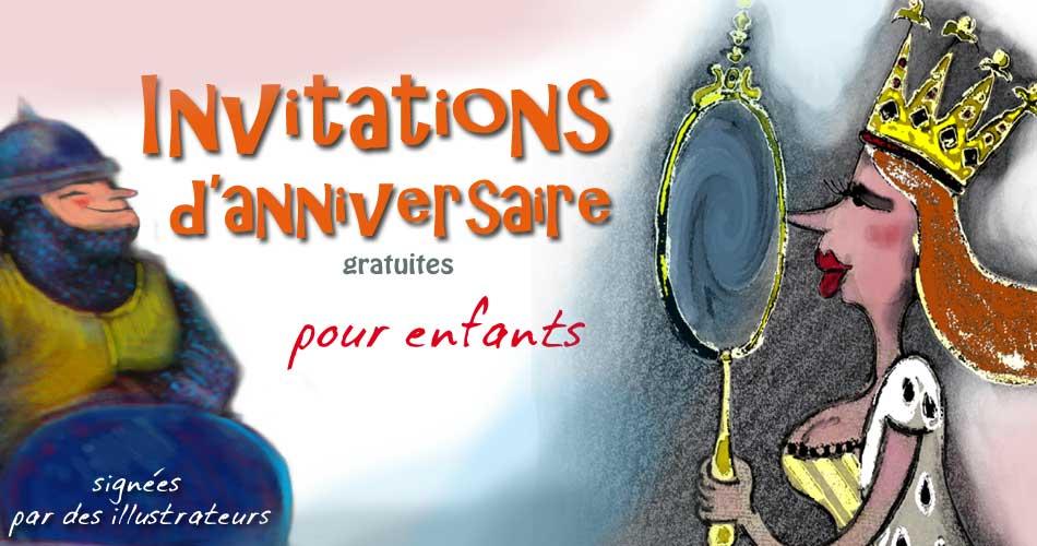Carte invitation anniversaire 5 ans à faire