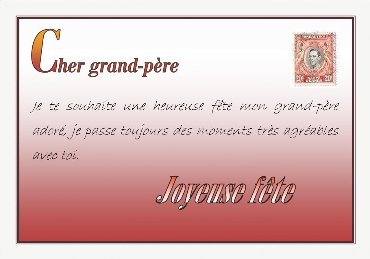 Message Bon Anniversaire Papy Elevagequalitetouraine