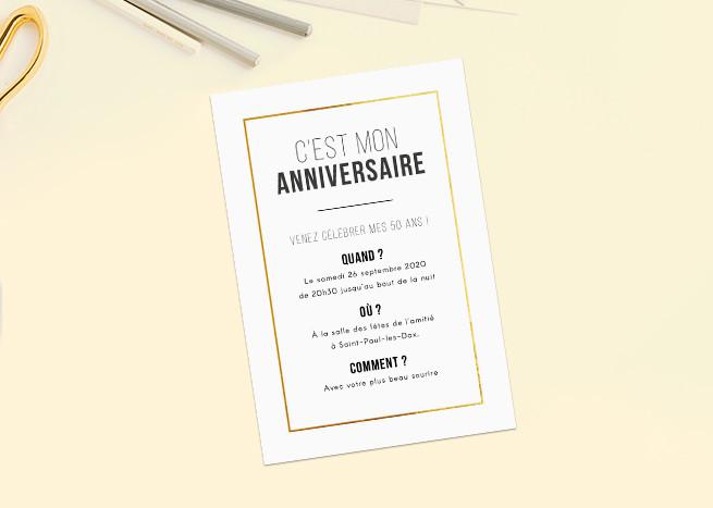 Texte invitation a mon anniversaire