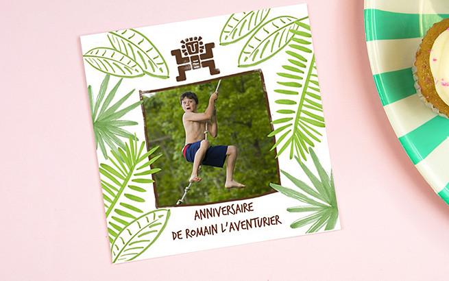 Carte d invitation anniversaire personnalisée gratuite