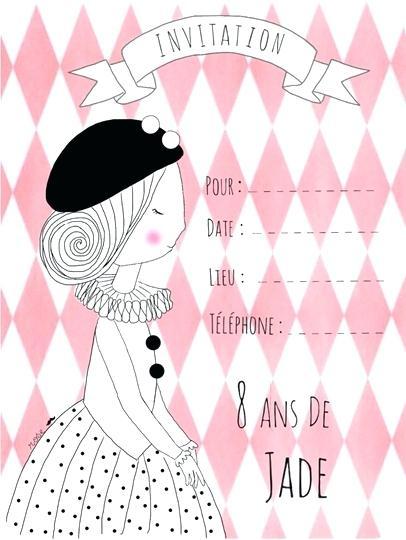 Carte D Invitation Anniversaire Pour Fille De 10 Ans Elevagequalitetouraine