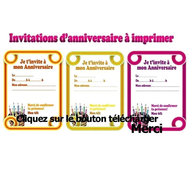 Carte invitation mail anniversaire