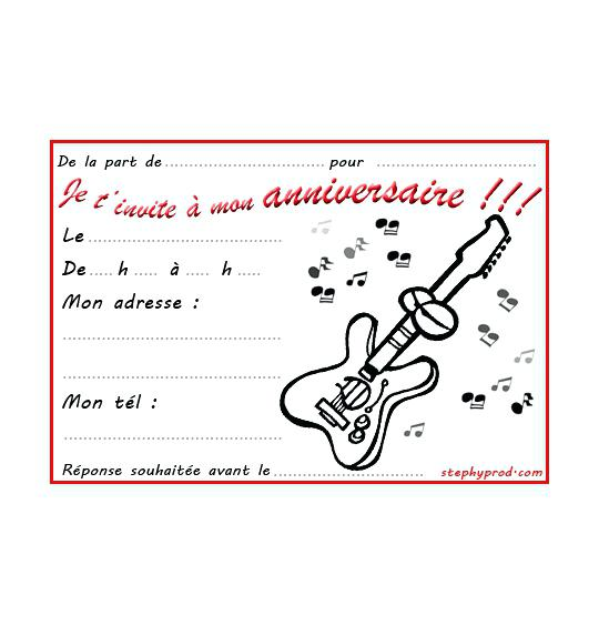 Texte anniversaire rock and roll