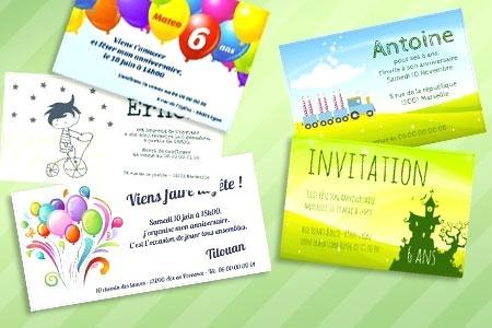 Creer gratuitement une carte d'invitation anniversaire
