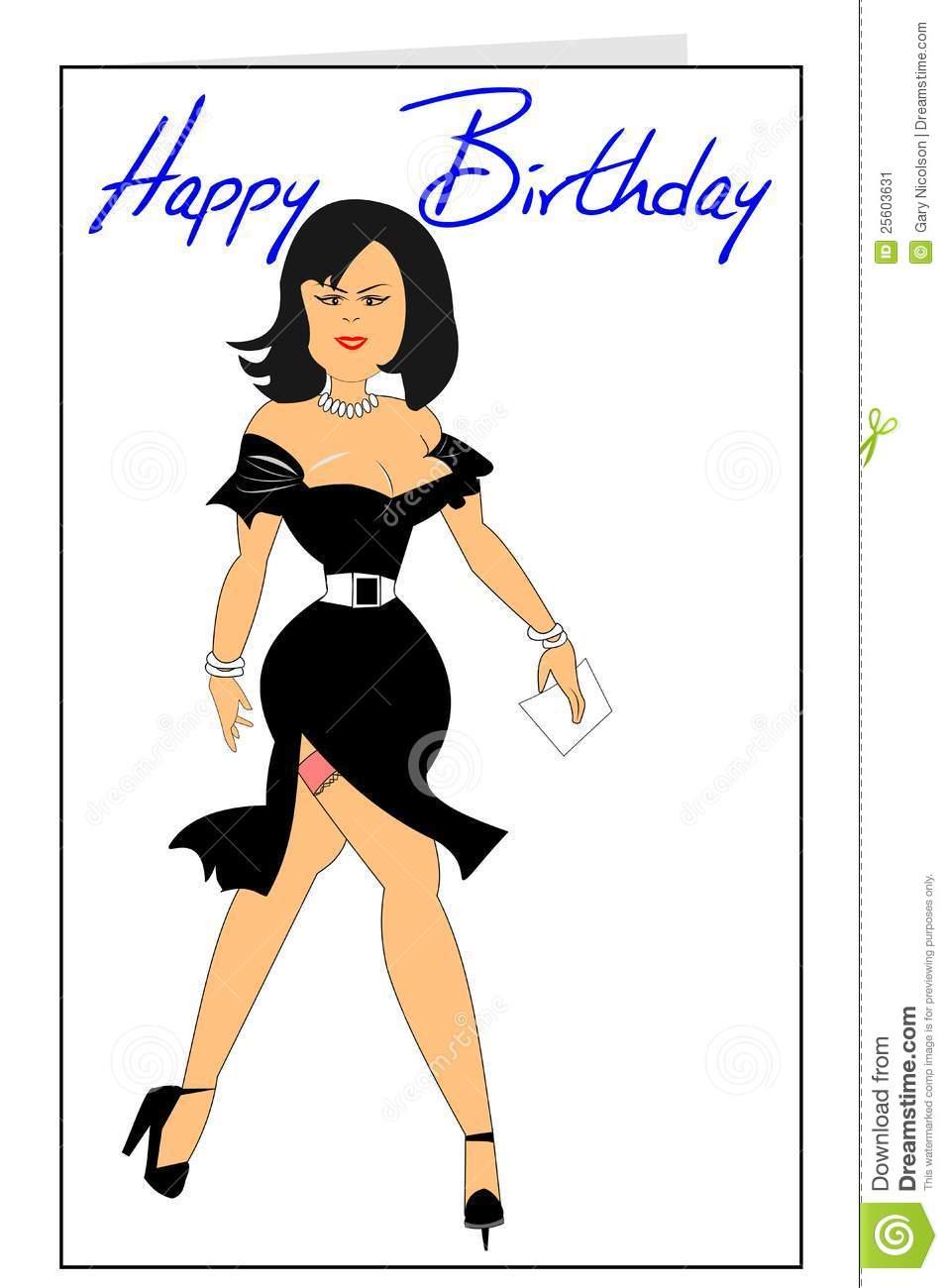 Carte anniversaire homme sexy black