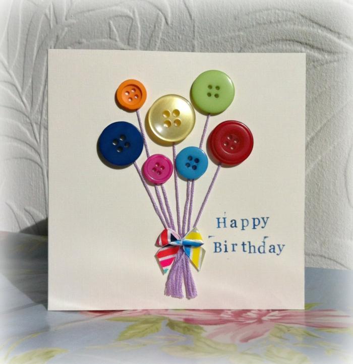Idée carte joyeux anniversaire