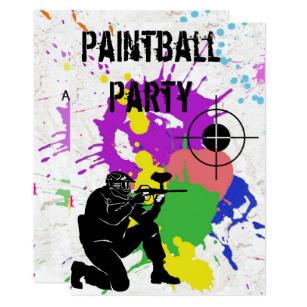 Carte anniversaire paint ball