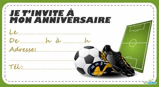 Carte joyeux anniversaire foot gratuite