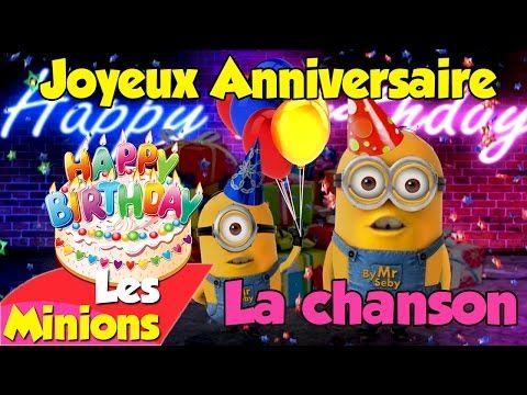 Carte virtuelle joyeux anniversaire les minions