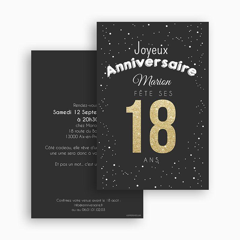 Texte carte d'invitation anniversaire 18 ans