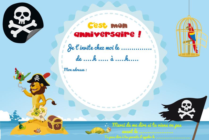 Carte D Invitation Anniversaire Pirate Elevagequalitetouraine