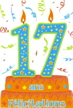 Texte anniversaire 17 ans garçon humour