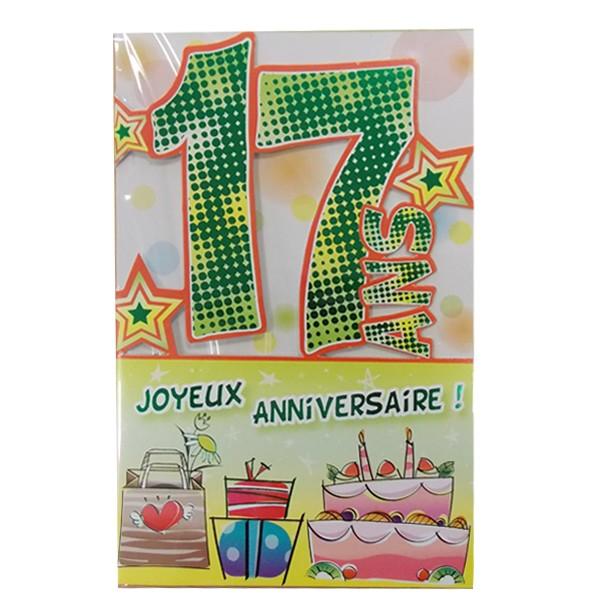 Carte anniversaire pour 16 ans
