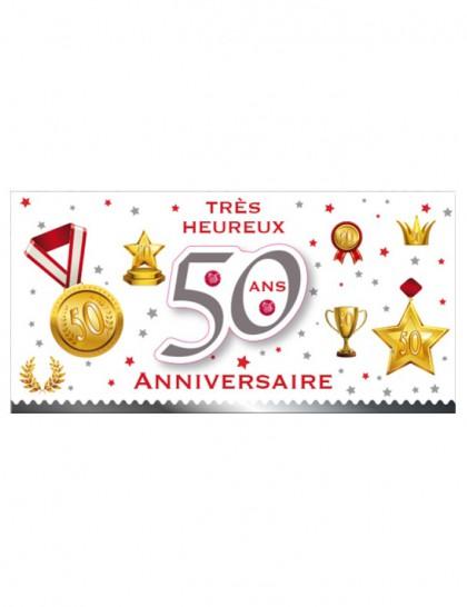 Carte anniversaire fille 50 ans