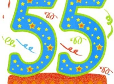 Carte anniversaire 55 ans femme à imprimer