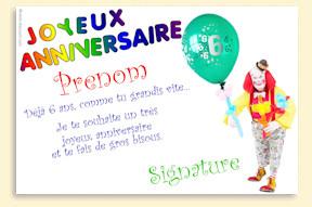 Carte anniversaire 3 ans texte