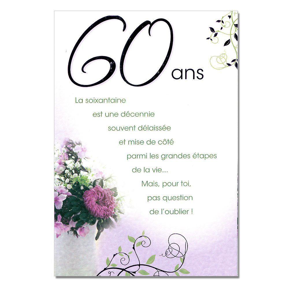 Carte anniversaire gratuite femme 60 ans