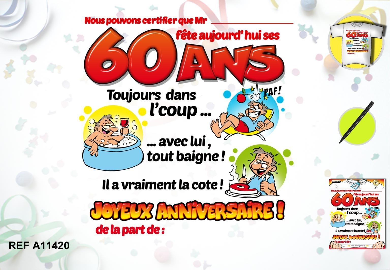 Message Anniversaire 60 Ans Humoristique Elevagequalitetouraine