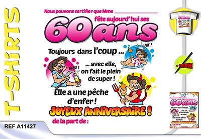 Carte anniversaire 60 ans gratuite imprimer
