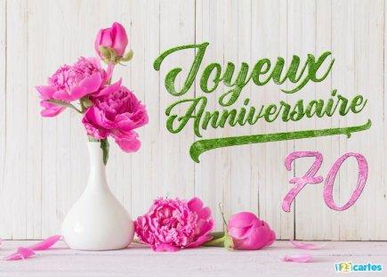 Carte gratuite anniversaire femme 70 ans