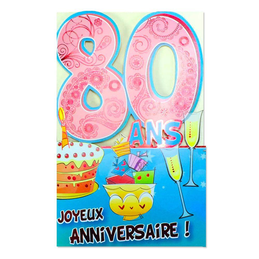 Carte anniversaire a imprimer 80 ans