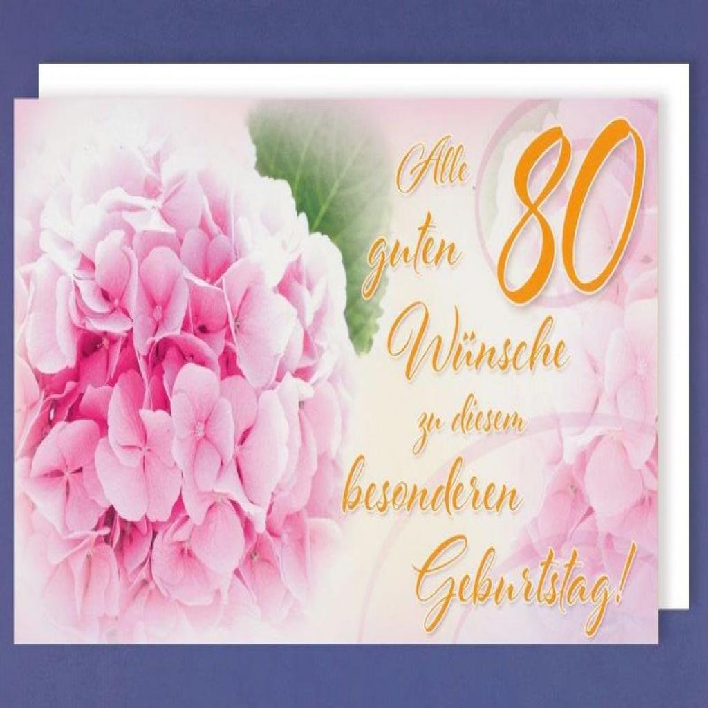 Carte anniversaire 80 ans fleurs