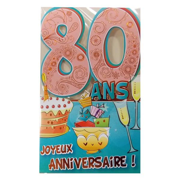 Carte anniversaire gratuite 80 ans homme