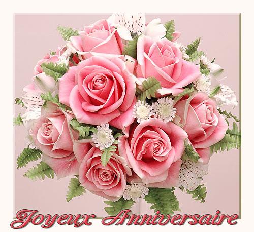 Carte fleurs pour anniversaire