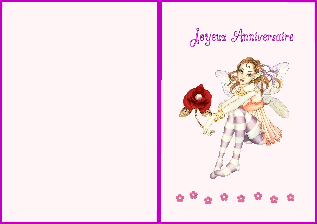 Carte Anniversaire 1 An Fille