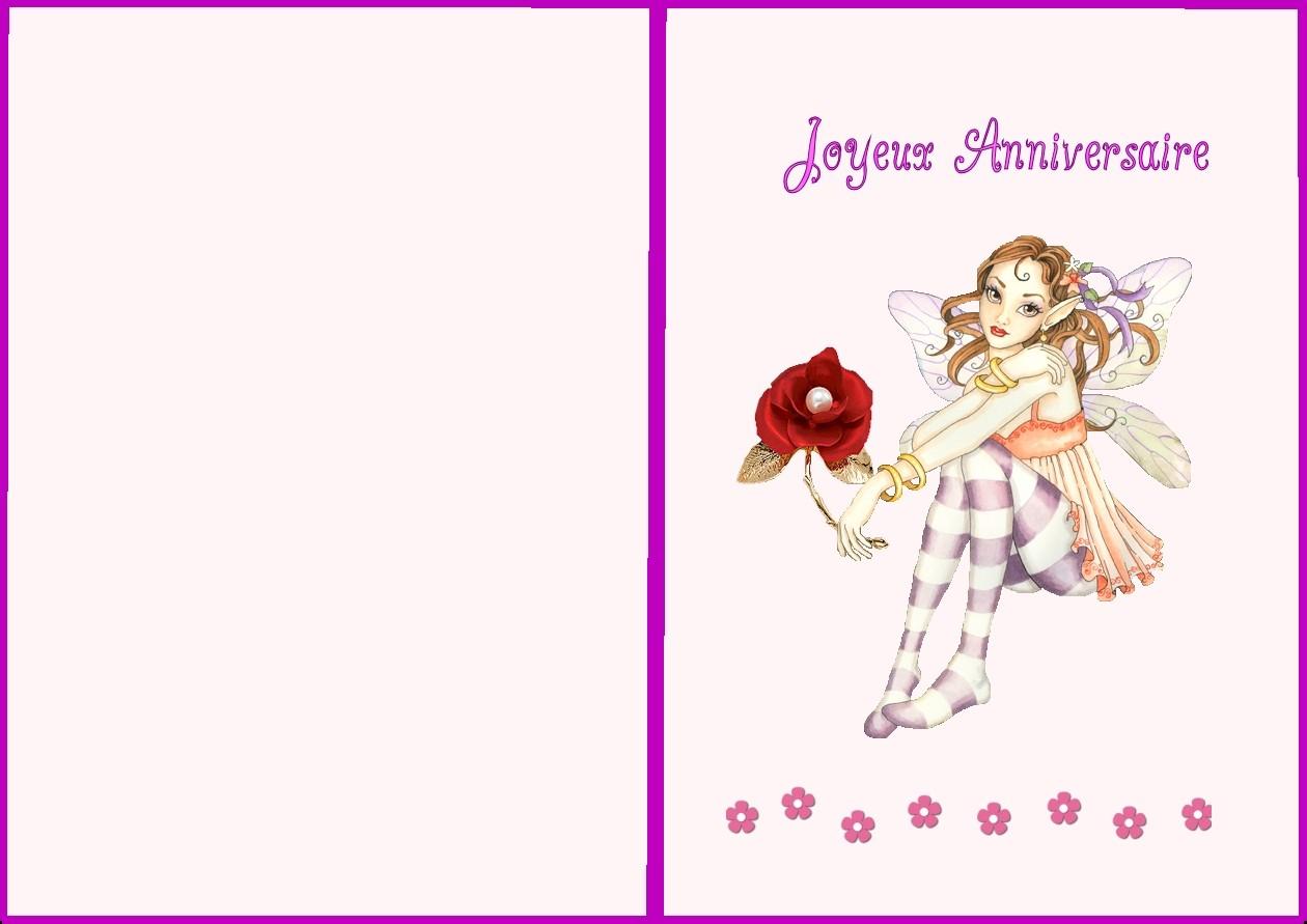 Carte Anniversaire Fille 1 An A Imprimer Elevagequalitetouraine