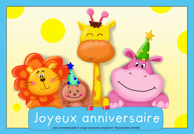 Carte d anniversaire virtuelle pour enfant