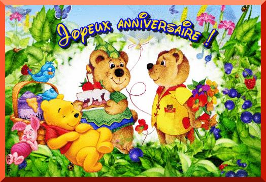 Carte anniversaire animée enfant gratuit