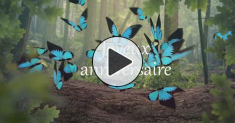 Carte anniversaire licorne virtuelle
