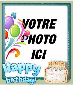 Carte anniversaire animée avec photo personnalisée