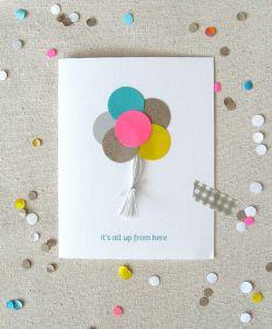 Diy carte anniversaire facile