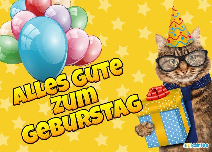 Carte joyeux anniversaire en allemand