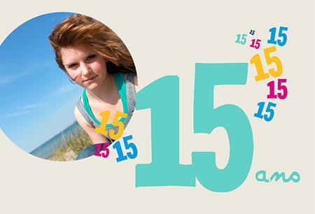 Carte invitation anniversaire 15 ans