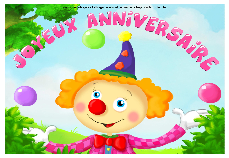 Carte anniversaire enfant personalisée