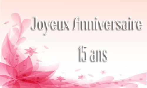 Carte anniversaire 15 ans gratuite