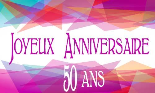 Carte anniversaire 50 ans virtuelle