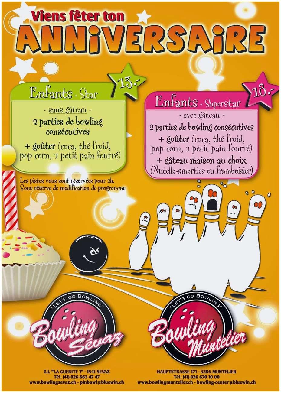 Carte anniversaire bowling a imprimer