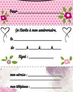 Carte invitation anniversaire fille 9 ans gratuite imprimer - Elevagequalitetouraine