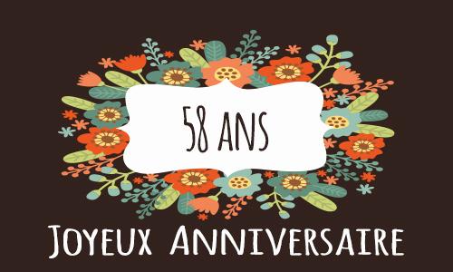 Carte Anniversaire Femme 58 Ans Elevagequalitetouraine