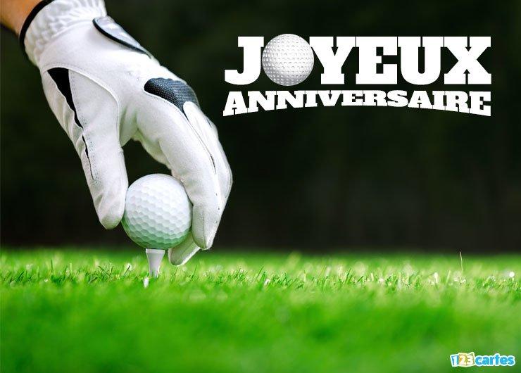 Message anniversaire golf