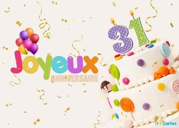 Carte anniversaire 31