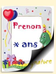 Carte anniversaire à imprimer 1 an