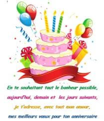 Cartes anniversaire gratuites avec texte
