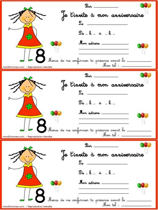 Carte Anniversaire Gratuite Fille 8 Ans Elevagequalitetouraine