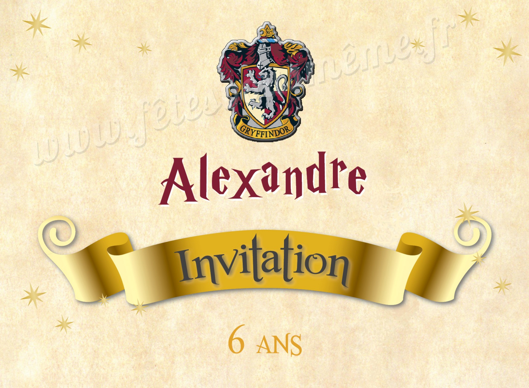 Carte virtuelle anniversaire harry potter