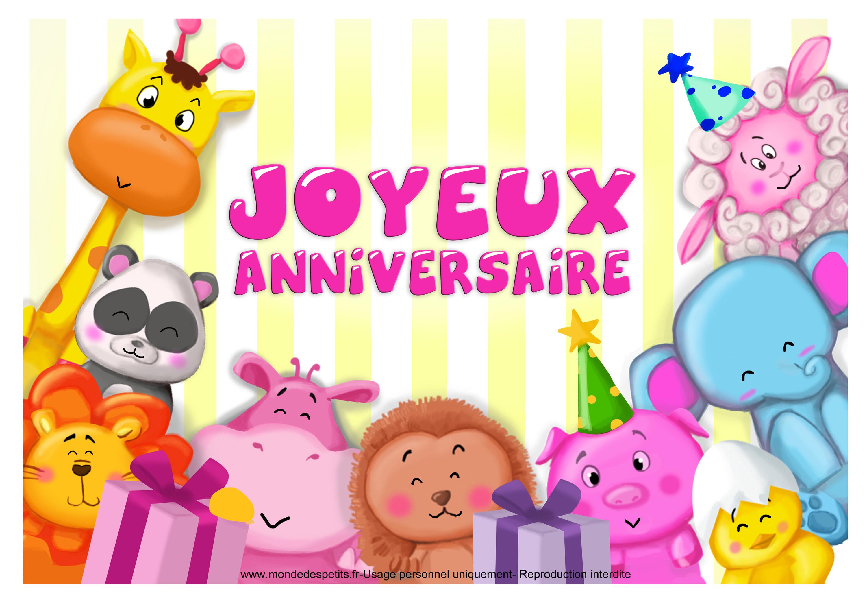 Carte anniversaire gratuite fille 2 ans